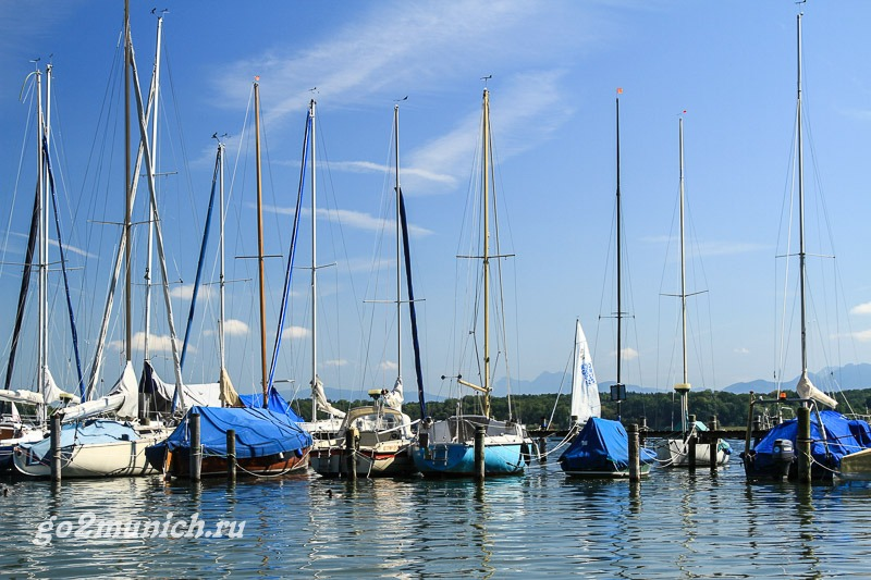 Озеро Кимзее (Chiemsee) в Баварии (Германия)