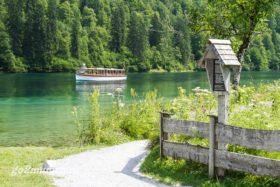 Кораблик на озере Кенигсзее