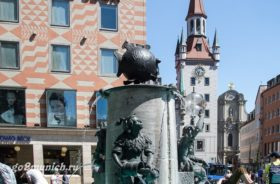 "Старая Ратуша и фонтан ""Рыбка"""