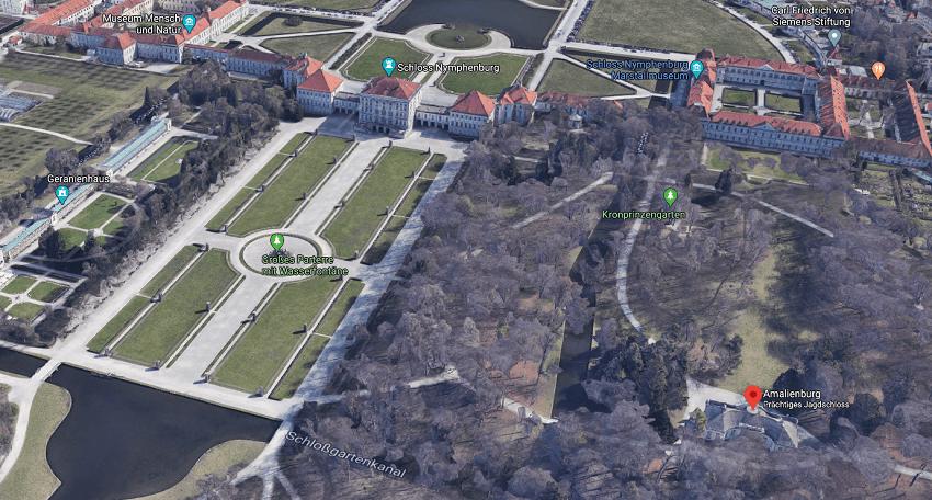 Амалиенбургский павильон в замке Нимфенбург Мюнхен