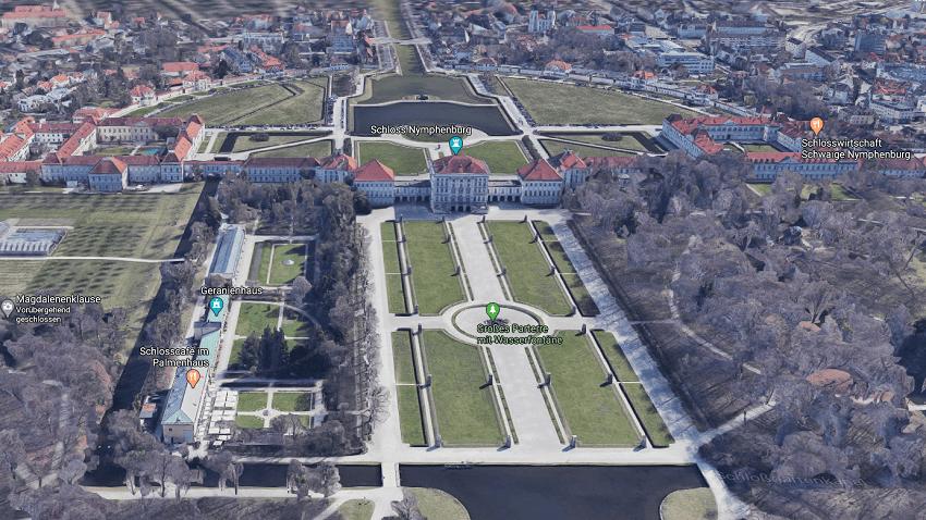 Нимфенбург замок в Мюнхене