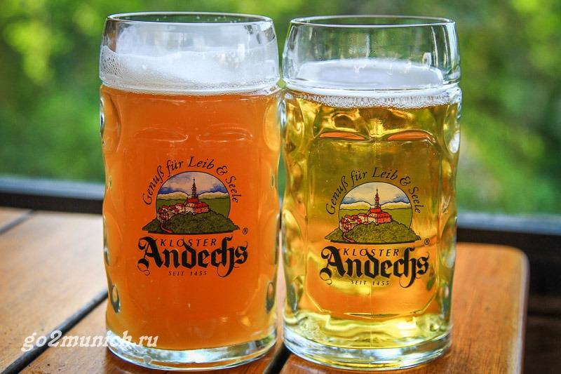 Пиво монастыря Андекс в Мюнхене