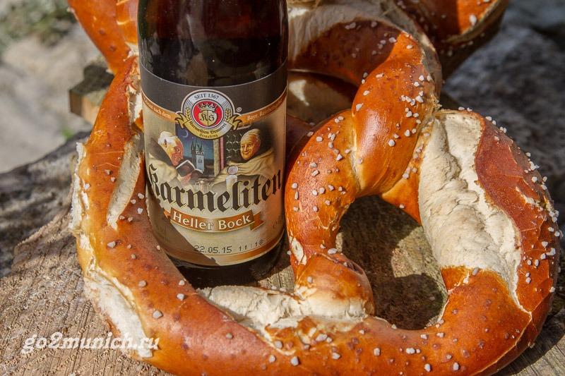 Баварский крендель брецель и пиво