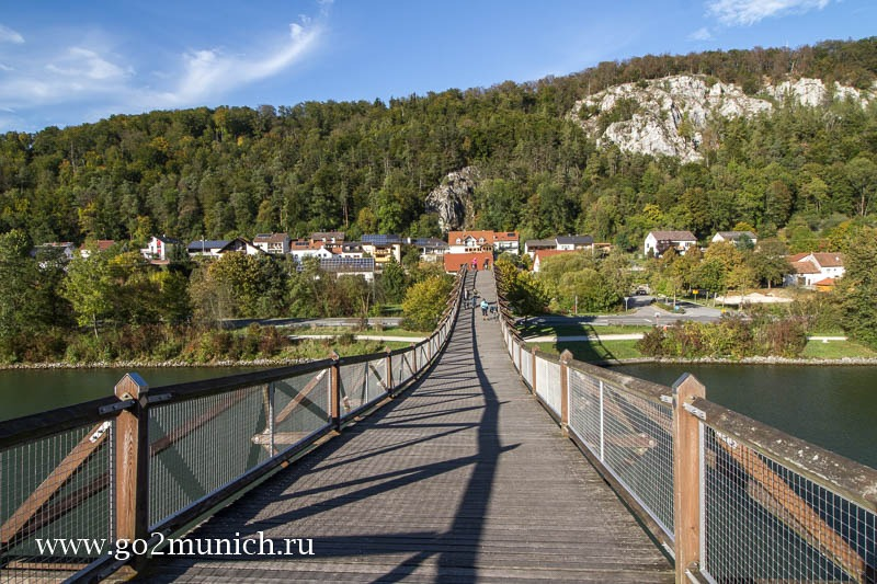 Длинный деревянный мост деревня Эссинг