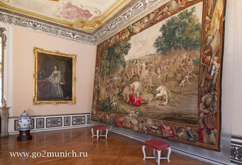 Дворец Нимфенбург интерьеры дворца внутри