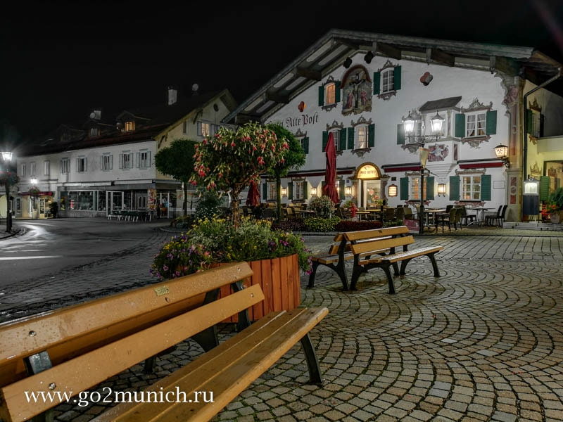 Обераммергау деревня в Баварии Германия фото