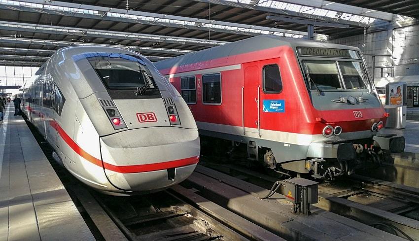Баварский билет на поезд