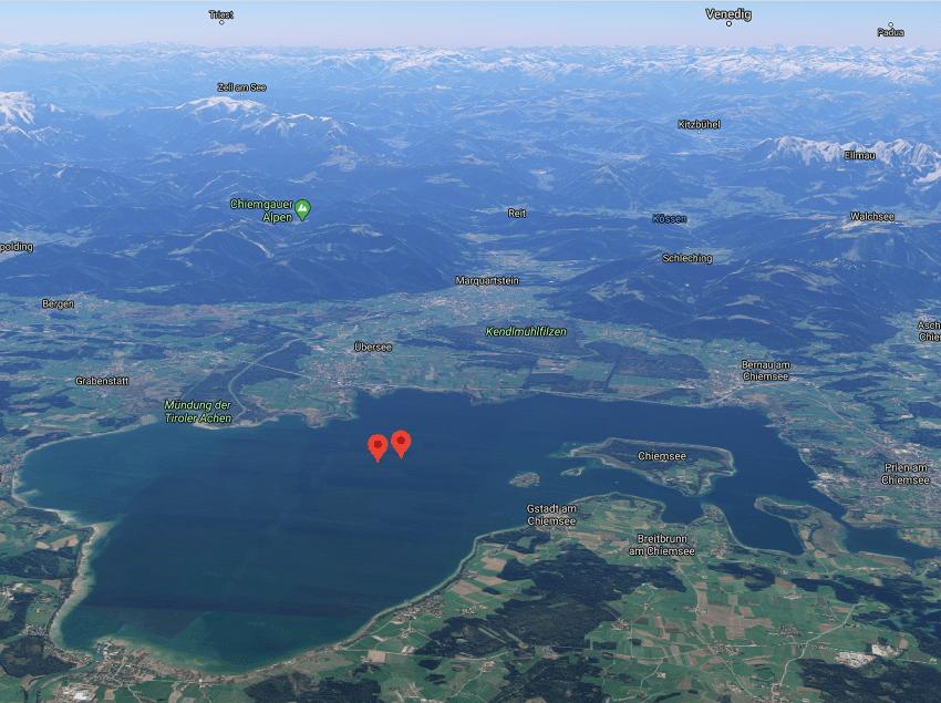 Озеро Кимзее Германия Бавария