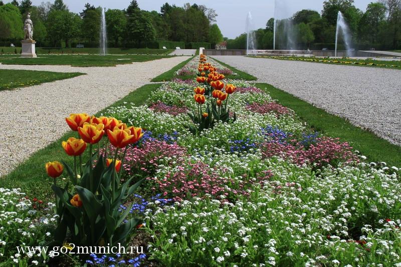 Дворцовый парк Шляйсхайм Мюнхен
