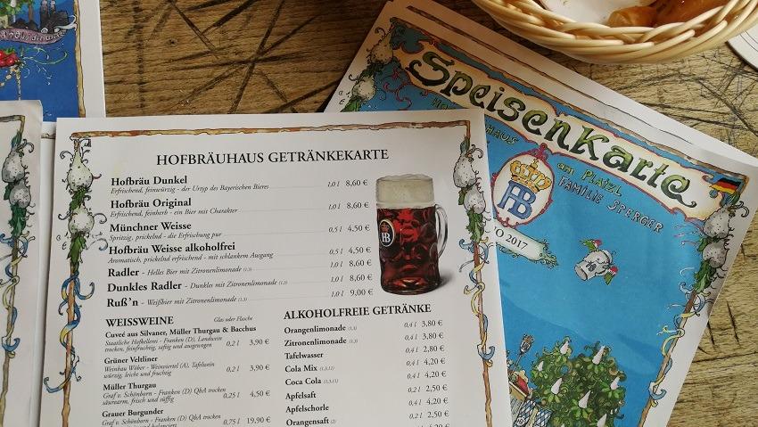 Хофбройхаус меню на русском языке