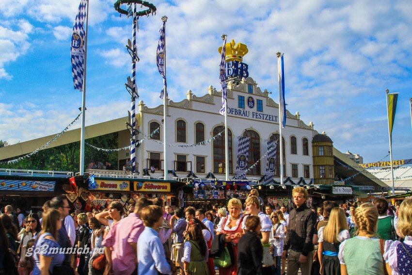 Где проходит Октоберфест 2015 в Мюнхене?