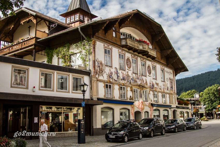 Деревня Обераммергау Бавария