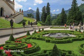 Замок Линдерхоф планировка парка