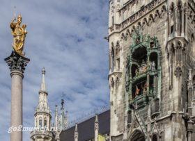 Мюнхен часы на Новой Ратуше