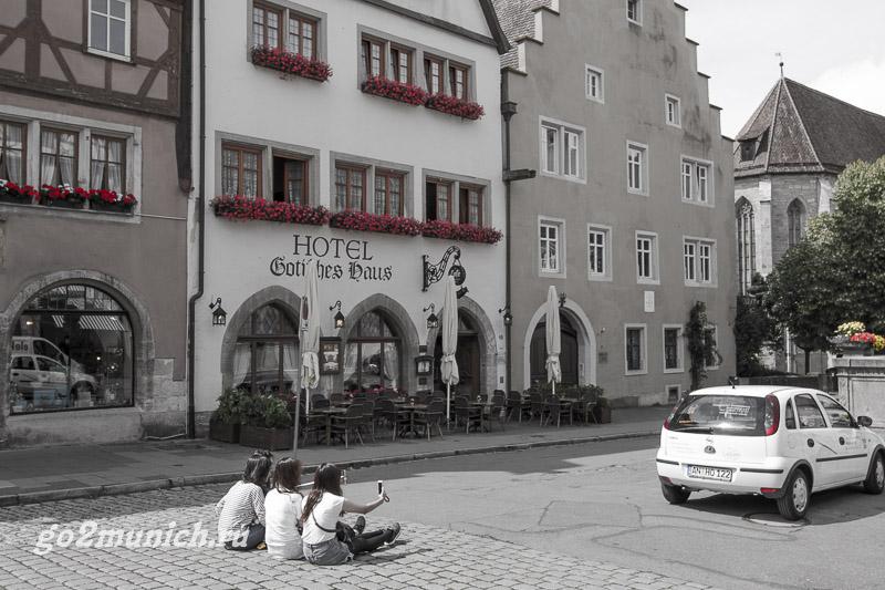 Город Ротенбург на Таубере Германия