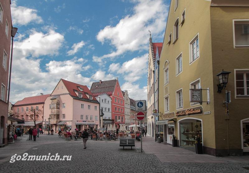 Расстояние от Мюнхена до Фюссена