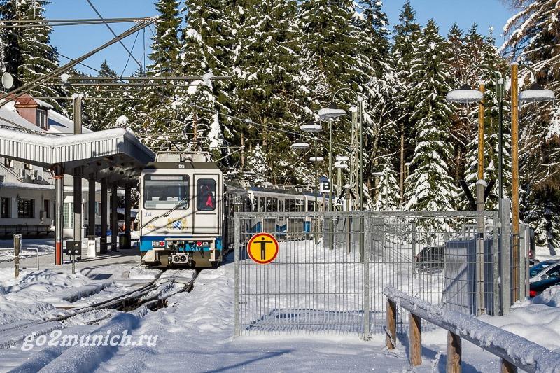 Гармиш-Партенкирхен поезд из Мюнхена